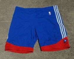 Adidas Team Issued Nba Practice Basketball Shorts Detroit Pistons Size Large