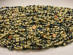 2 Pounds Assorted Shapes And Sizes Water Buffalo Bone Spacer Beads Bulk Lot T-9