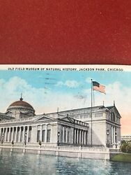 Vintage Postcard Chicago Il 1927. Old Field Museum Of Natural History.