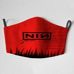 Nine Inch Nails Inspired Face Mask Reusable Washable (with filters) $17.99