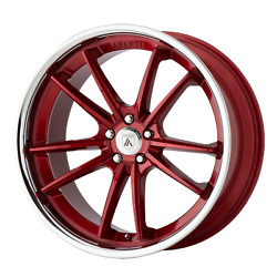 20x9 Asanti Black Abl-23 Candy Red With Chrome Lip Wheels 5x112 35mm Set Of 4