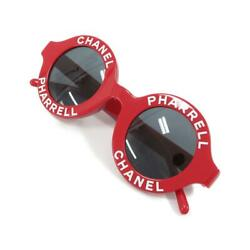 Sunglasses Chanel x Pharrell Collab Capsule Collection Red Round Logo Near Mint