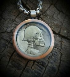 Hobo Nickel Necklace with 25quot; Stainless Steel Chain $21.99