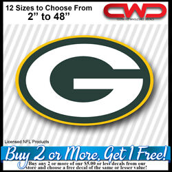 Green Bay Packers Licensed Decal 12 Sizes 2 - 48 Car Truck Trailer 700290
