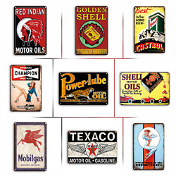 Gas Oil And Automotive Vintage Retro Style Metal Tin Signs 9 Styles Available
