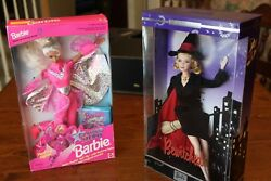 Collectors Edition Bewitched Samantha And Flying Hero Barbie Dolls Unopened