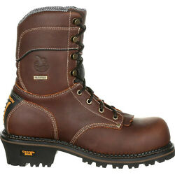 GEORGIA AMP LT LOGGER 9quot; WATERPROOF WORK BOOTS GB00235 ALL SIZES NEW
