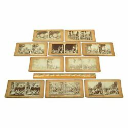 Antique Stereoscope / Stereograph Card Lot Of 10 Christian-religious Stereoviews