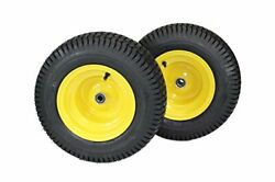 16x6.50-8 Tire Lawn And Garden Mower Tractor Trailer Turf Tires And Wheels Set Of 2