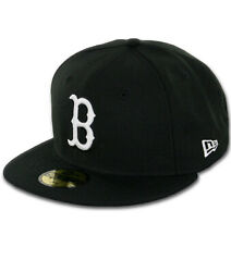 New Era 59Fifty Boston Red Sox quot;BK WH BKquot; Fitted Hat Black White Men#x27;s MLB Cap