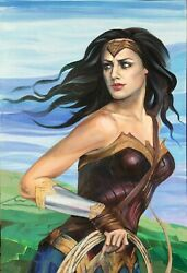 Wonder Woman Original Painting, Hand Painted, Acrylic On Canvas