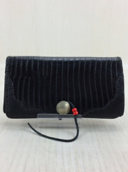 Red Moon Long Wallet Leather Black Croco Boost With Concho Ornament