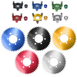 Cnc Adapter 44t Sprocket Fit 1 / 1.5 Hub 66cc 80cc Motorized Bicycle 415 Chain