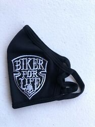 CUSTOM BIKER FOR LIFE MASK COVER REUSABLE WASHABLE MADE IN THE USA $12.99
