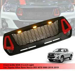 Led Front Grille Grill For Toyota Hilux Revo Rocco M70 M80 2018 2019