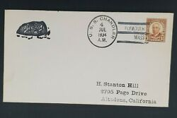 1934 Uss Chandler To Altadena California Plymouth Naval First Day Cover