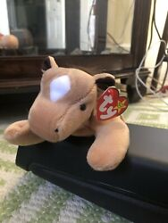 Ty Beanie Baby Derby The Horse With Diamond Furry Mane Rare Retired