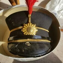 Ww2 Imperial Japanese Army Dress Uniform Officers Cap Real Military Free/ship