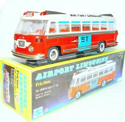 China Mf-910 Airport Limousine 1960 Shuttle Bus Friction Tin Toy Mb`80 Version 2
