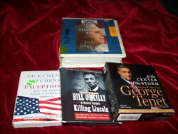 Lot Of 4 Cd Audio Books Historical Political George Tenet Dick Cheney Mccain ++