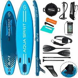 Sup Inflatable Stand Up Paddle Board Kayak Seat And Accessories 10and0398 And 12and0396 Blitz