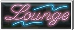 Outdoor Lounge Neon Sign   Jantec   37 X 15   Coffee Message Cafe Vape Sweets