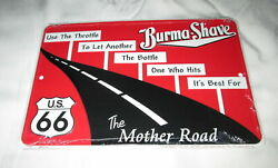 Route 66 - Burma Shave Metal Sign 1 - New