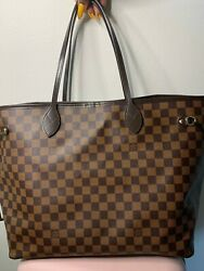 Louis Vuitton Damier Neverfull GM and matching Wallet in Damier style