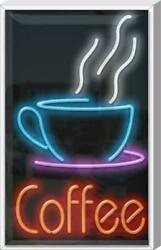 Outdoor Coffee Neon Sign   Jantec   20 X 32   Cafe Tea Cold Brew Shop Sweet