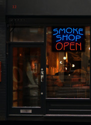 Smoke Shop Open Neon Sign   Jantec   30 X 24   Tobacco Pipe Accessories Pipes