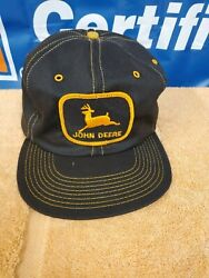 Vintage John Deere w Patch Black with Gold Stitch $32.00