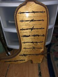 Antique Barbed Wire Boot Display Authentic Barbwire Collection $24.99