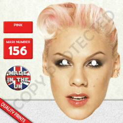 Pink Celebrity Singer Card Mask Made In The UK Fast Dispatch $4.08