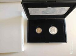 Netherlands 10 Euro 2002 Silver And Gold Proof Coins In Set