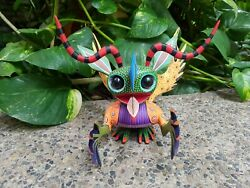 Pp146 Oaxacan Wood Carving Hand Made Marcianby Issac Fuentes .
