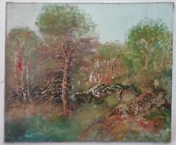 Painting Oil On Canvas Landscape Forest School Barbizon Signed Valley Xixth