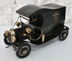 Hand Made Vintage New York Police Dept 1914 Wagon Car Great Detailed Statue Sale