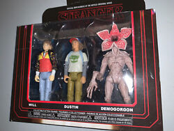 Funko Stranger Things 3 Pack Action Figures Will, Dustin And Demogorgon