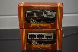 Hornby R216 4 Wheel Coach Caladonian Livery X 2 00 Gauge Boxed