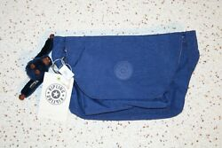 Nwt Kipling Arvin Travel Bag Waist Pack Pouch With Furry Monkey Ink Blue