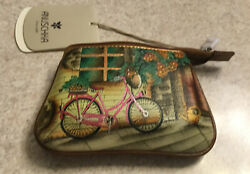 Anuschka Bike  Hand Painted Leather Coin Purse $25.00