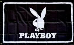 Playboy Bunny 3 x5 Flag 3x5 Banner Gift Dorm Frat Man Cave Dad Mom Sorority Fun