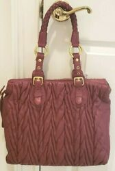 NEW PAOLO MASI SOFT PLEATED LEATHER MADE IN ITALY DESIGNER WINE PURSE HOBO $65.00