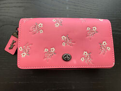 NWT COACH 1941 Dinky Crossbody Handbag With Floral Bow Print PINK Authentic $350 $159.00