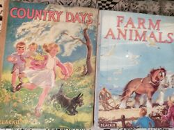 Blackie Hardback Country Days And Farm Animals E Gould And E A Soper Illustrated