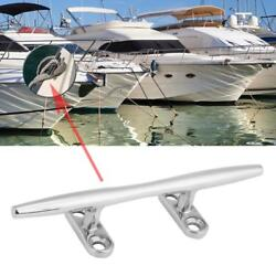 6 Stainless Steel Base Boat Dock Deck Rope Cleat Marine Bollard Yacht Bt