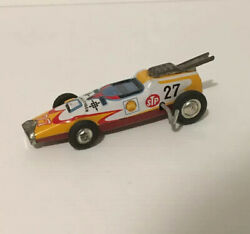 Tin Wind Up Racing Car By T.t Made In Japan