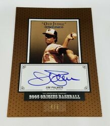 2005 UD Origins Autographs Bronze Border Jim Palmer ON CARD AUTO SSP 5