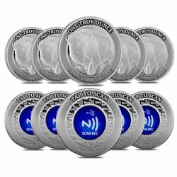 Lot Of 10 - 1 Oz Mintid Buffalo Silver Round .999+ Fine Nfc Scan Authentication