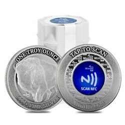 Lot Of 20 - 1 Oz Mintid Buffalo Silver Round .999+ Fine Nfc Scan Authentication